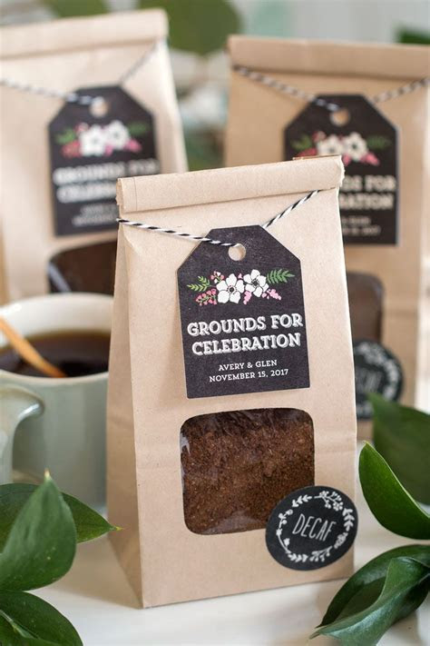 Grounds for Celebration: Coffee Wedding Favors   Wedding