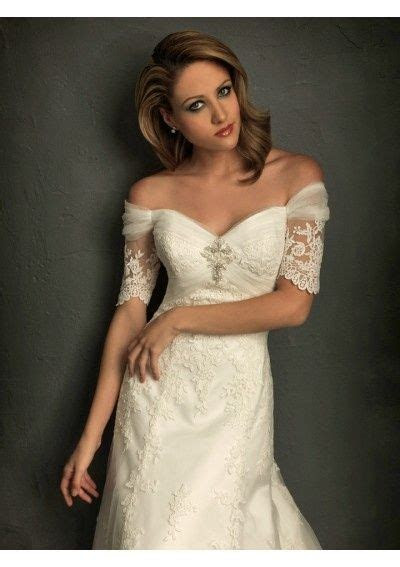 3/4 sleeved lace wedding dress off the shoulder   Off The