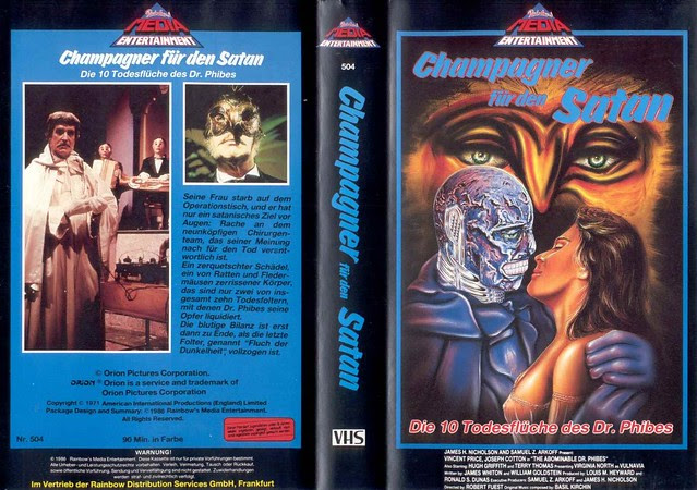 The Abominable Dr Phibes (VHS Box Art)