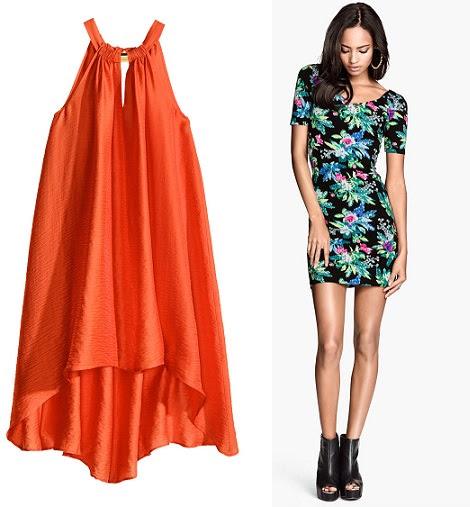 vestidos cortos de colorde H&M primavera verano 2014