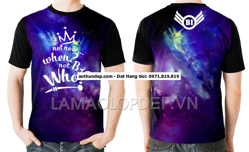 áo lớp 3d galaxy