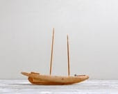 Vintage Balsa Wood Model Ship - LittleDogVintage