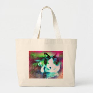 snowshoe mixed media jumbo tote bag