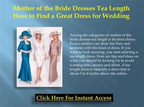 Mother of the bride dresses tea length ? how to find a