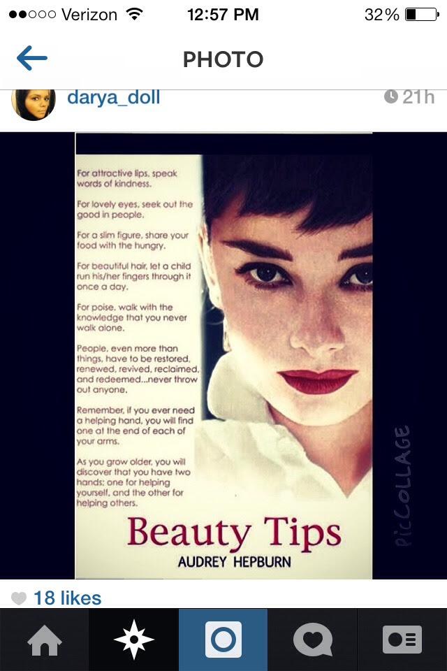 Audrey Hepburn BEAUTY TIPS ! Musely