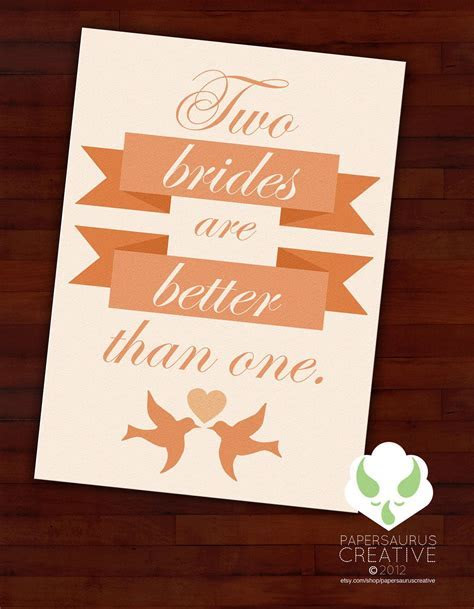 Greeting card   Two brides are better than one   gay