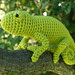 crocheted chameleon