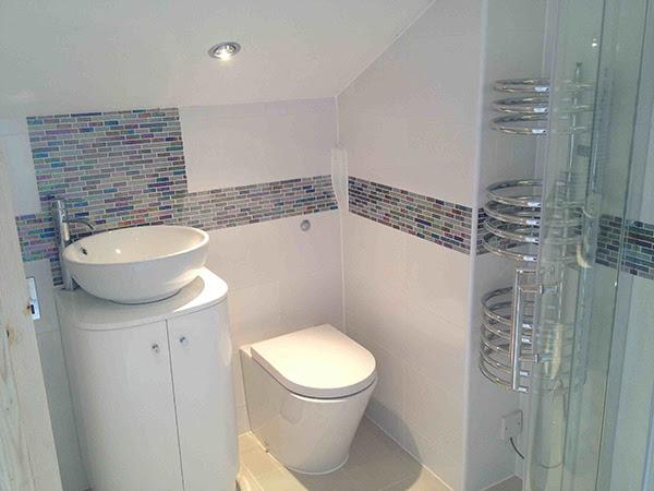 Home Architec Ideas Grey Half Tiled Bathroom Ideas