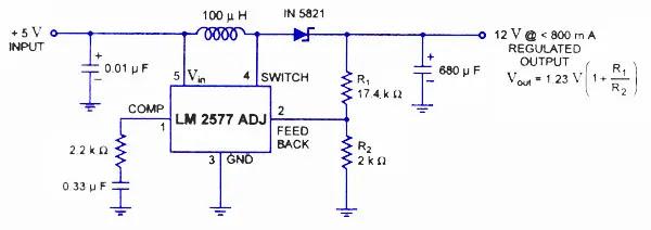 LM 2577 switching regulator