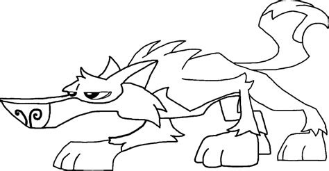animal jam wolves  coloring pages