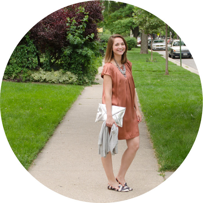 july blog post, what to wear to a pig roast, orange dress with flats, silk dress for daytime