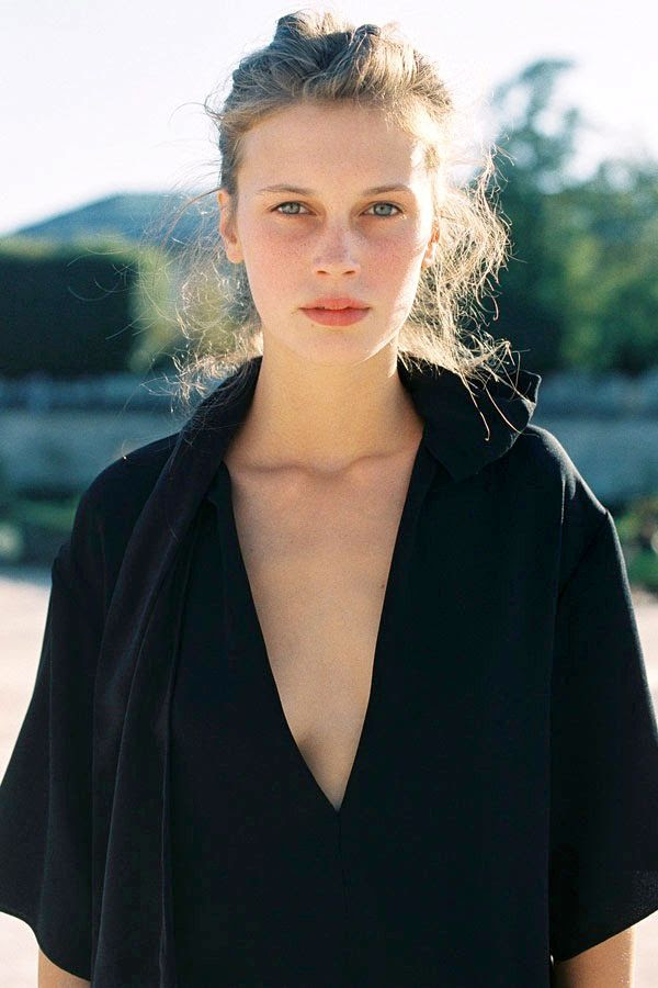 Le Fashion Blog -- Paris Fashion Week Street Style -- Marine Vacth -- Fresh Face Beauty -- Effortless Black Dress -- Via Vanessa Jackman photo Le-Fashion-Blog-Paris-Fashion-Week-Street-Style-Marine-Vacth-Effortless-Black-Dress-Beauty-Via-Vanessa-Jackman.jpg