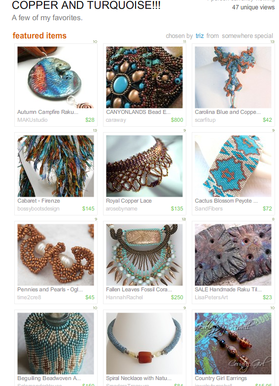 Copper & Turquoise by Triz