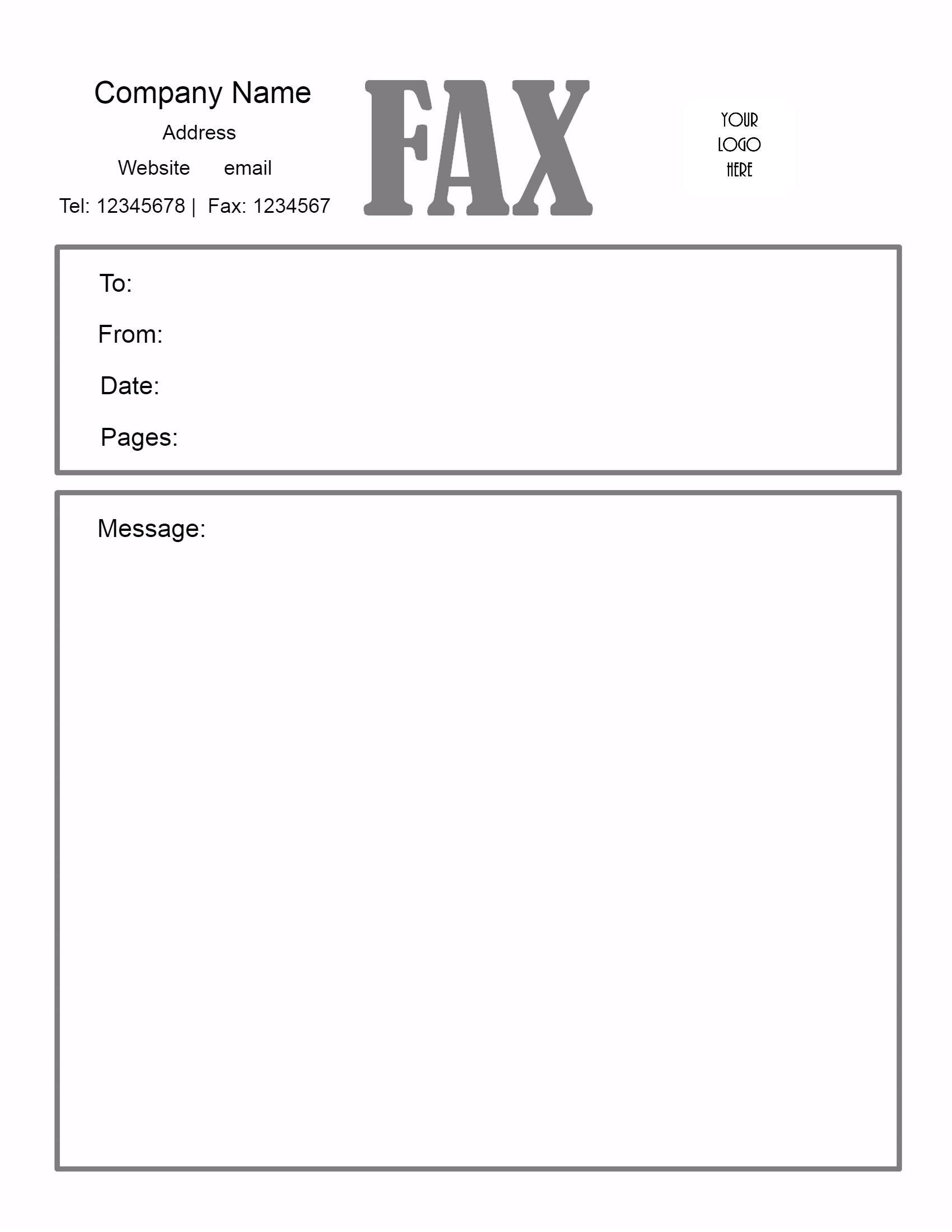 Fax Cover Letter Sample Word Sample Cover Letter