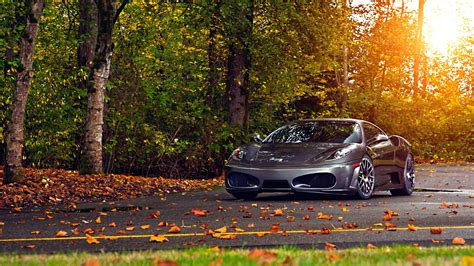 full hd wallpaper ferrari scuderia sports car autumn