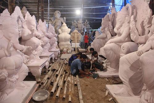 Mr Vijay Khatu's Ganesha Workshop Parel 2013 by firoze shakir photographerno1