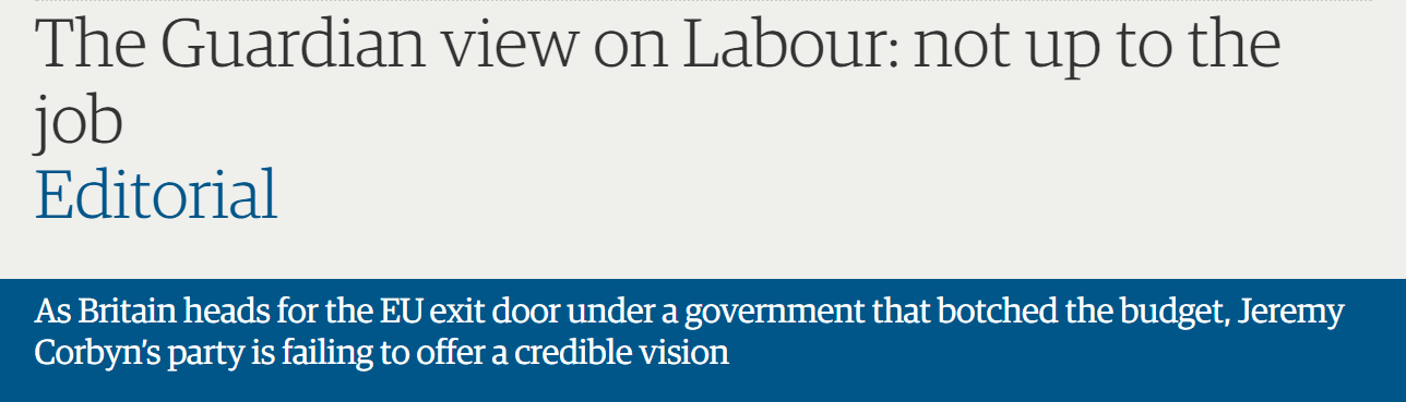 The Guardian view on Labour: not up to the job