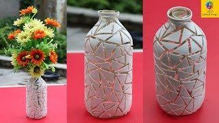 How To Make Beautiful Flower Vase Diy Best Out Of Waste Idea Using Plastic Bottle