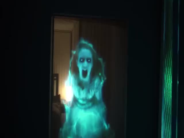 Terrifying Ghost Hologram Decoration for Halloween