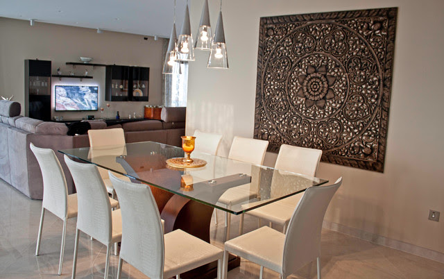Dining Room Feature Wall - Mellieha Penthouse ...