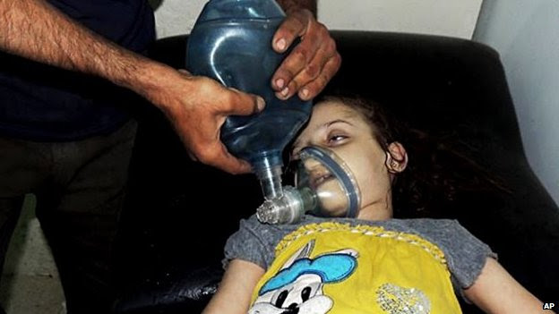 Girl being treated