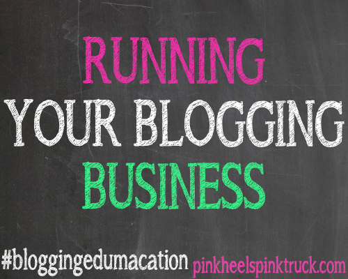 Running Your Blogging Business by Pink Hills Pink Truck