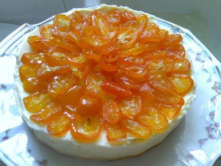 Cheese cake aux kumkats confits