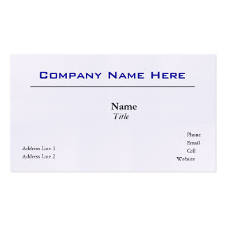 White Linen Business Cards