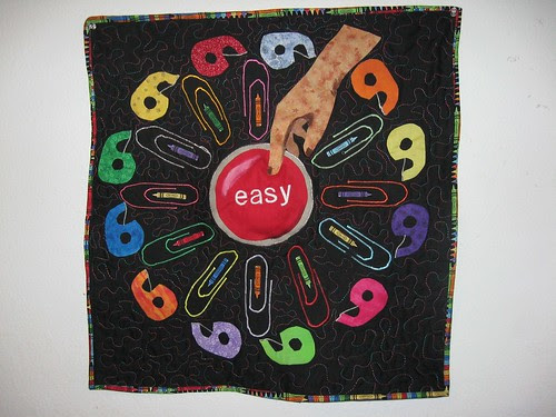 Easy Button - Project QUILTING Office Supply Challenge