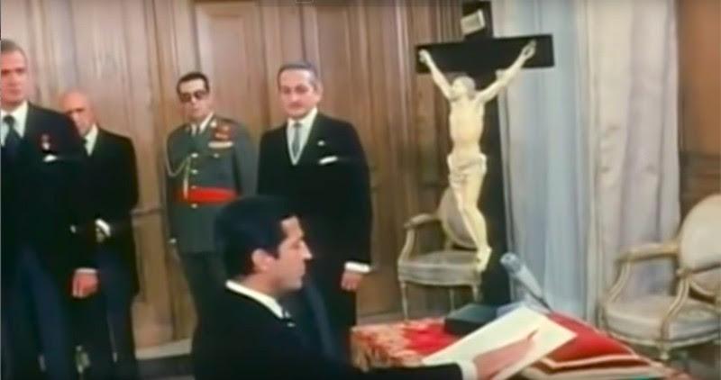 <p>Juramento de Adolfo Suárez como presidente del Gobierno.</p>