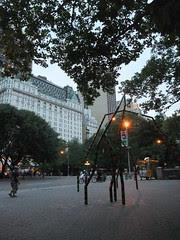 sculpture by park