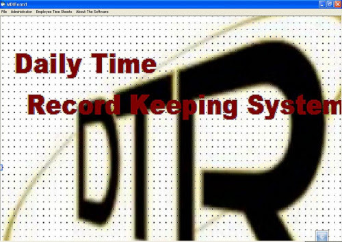 Daily Time Record Recording System Version 1.0   Free source code ...
