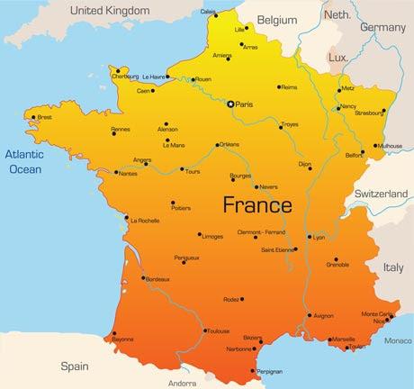 france vector map1