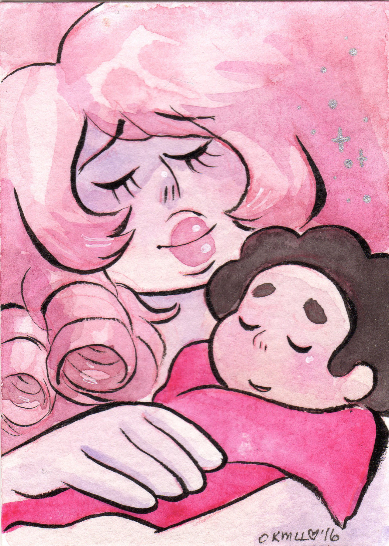 Steven Universe watercolor ATCs! (2.5″ x 3.5″) $10 each, + $1 shipping in the US, or $2 everywhere else. Click on the pics to see which ones are available! message me if interested! UPDATE:Amethyst...