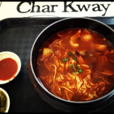 Spicy Korean for lunch!:)  (Taken with Instagram)