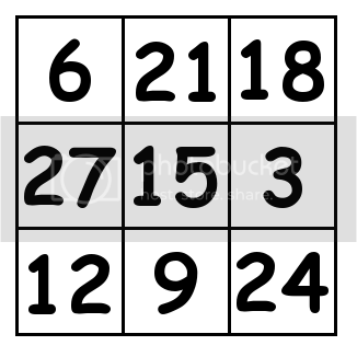 3 by 3 grid Solution 2