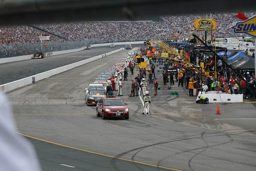 Lined up before the race