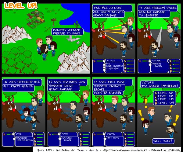 [fedora webcomic: level up!]