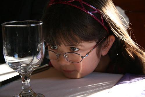 Dova contemplates the glass
