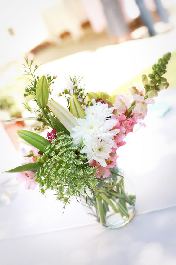 Pink and green wedding centerpieces photos | Wedding-Decorations