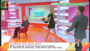 Sónia Araujo sensual na Praça