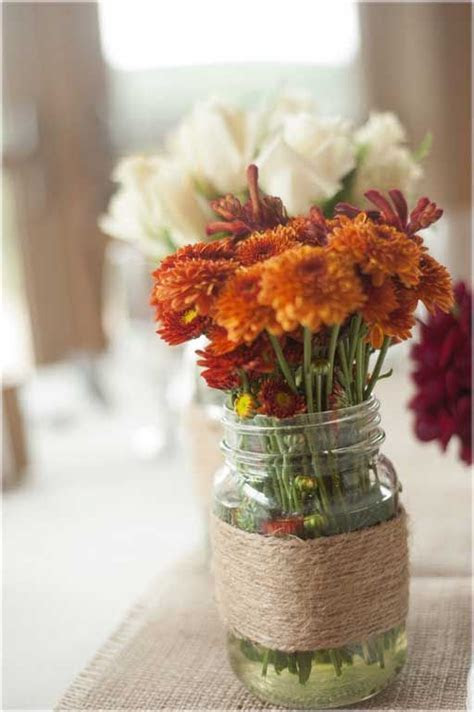 Wedding Decor, Simple Centerpiece For A Fall Wedding