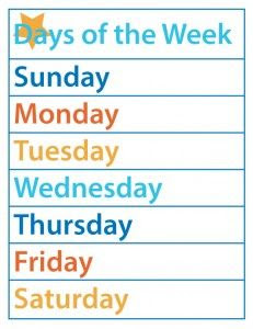 1000+ images about Kids Learning:: Days of the week & months of ...