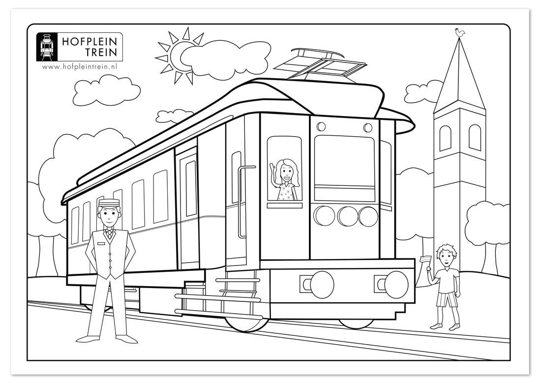 kleurplaten kleurplaat treinen