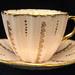 "Staffordshire Bone China ""Floral"" Teacup & Saucer"
