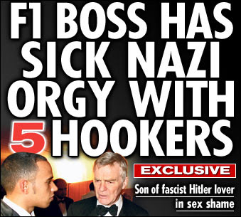 "Google forced to censor Max Mosley ""Nazi sex party"""