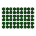 Green Polka Dots on White