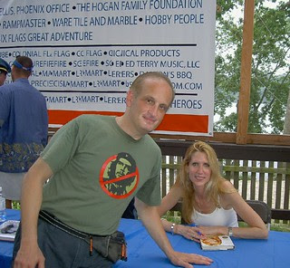 Ann Coulter Signs Book for me
