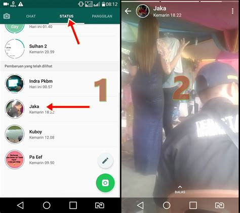 menyimpan video  foto  status whatsapp