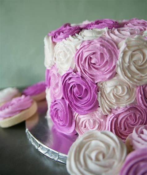 Shades of pink rosette cake   Sweet IRB cakes   Fruit